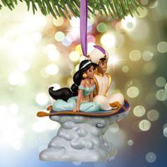 Aladdin und Prinzessin Jasmin - Weihnachtsdekoration mit Melodie