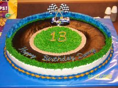 nascar cakes | this was what I made for his 13th birthday, one of many Nascar cakes ...