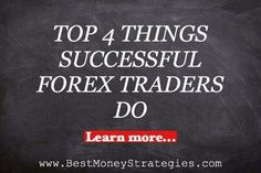 Top 4 Things Successful #Forex Traders Do READ MORE http://ow.ly/Ws1Qg