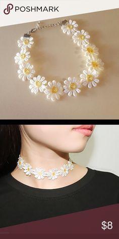 Daisy flower choker Daisy flower flower Jewelry Necklaces