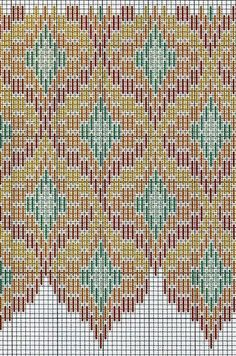 Florentine Bargello Embroidery: 25 Patterns for Different Difficulty Levels, фото № 27 Bargello Quilt Patterns, Bargello Needlepoint, Bargello Quilts, Needlepoint Stitches, Plastic Canvas Stitches, Plastic Canvas Patterns, Plastic Canvas Crafts, Cross Stitching, Cross Stitch Embroidery