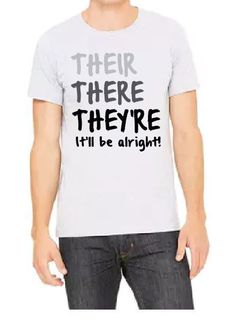Their There They're tee - Athletic Heather
