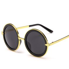 Find More Sunglasses Information about The new round box Sunglasses retro trend arrows metal sun glasses manufacturers promotion 5230 vintage fashion women men,High Quality Sunglasses from NBG AIH on Aliexpress.com