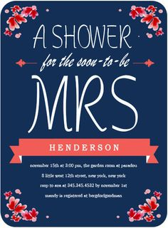 The Soon To Be Mrs Bridal Shower Invitation Response Cards, Bridal Shower Invitations, Invitation Cards, Colorful Backgrounds, Handmade Gifts, Weddings, Etsy, Kid Craft Gifts, Bachelorette Invitations