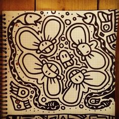 #sketch on #paper with a #black #marker #pen | #handmade #drawing as #art #Instagram