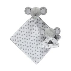 Put a smile on their face with this adorable rattle and snuggler set, topped with cuddly elephant heads. It's all you need to keep baby entertained or comfor. Grey Elephant, Elephant Head, Baby George, Asda, Settee, Kids Toys, Teddy Bear, Entertaining, Baby Blankets
