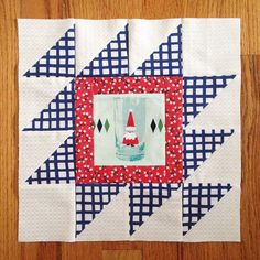 Rocky Mountain Ouzzle quilt block