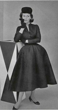 Fashion by Christian Dior, 1952.