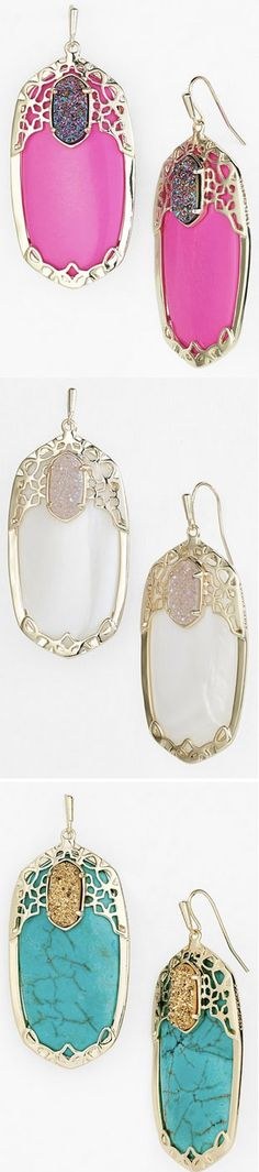 Gorgeous 'Glam Rocks' drop earrings http://rstyle.me/n/m869rnyg6