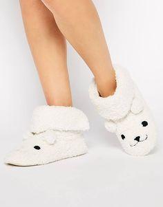 cfb743acd83f0 Enlarge New Look Nolar Polar Bear Novelty Slippers from ASOS.