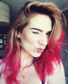 Pink hair różowe włosy kiss girl polishgirl polish
