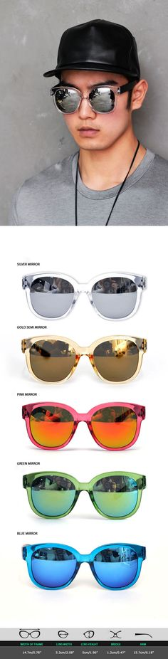 Mens Colorful Summer Must Mirror Sunglasses By Guylook.com