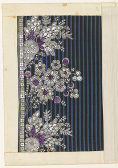 Embroidery Sample (France), late 18th–early 19th century