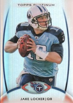 2012 Topps Platinum Football #79 Jake Locker Tennessee Titans NFL Trading Card by Topps Platinum. $1.99. 2012 Topps Co. trading card in near mint/mint condition, authenticated by Topps Collectibles