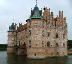 Egeskov Castle near Svendborg Denmard. Built in1554 and is still a private home.