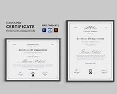 Corporate & Modern Certificate Template. Use this Certificate Template in your business, company or institution in completion of any course, training, degree or job. Also, you can use this Multipurpose Certificate Template as award giving certificate, certificate of excellence, certificate of appreciation, certificate of achievement, certificate of recognition or related purpose. Certificate Of Merit, Certificate Of Achievement Template, Certificate Format, Certificate Design Template, Certificate Of Appreciation, Award Certificates, Letterhead Template, Brochure Template, Flyer Template