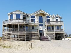 """Dreamtime"" is a lovely semi-oceanfront home in Carova with 6 bedrooms (4 masters) and 6 bathrooms.  Unobstructed ocean views abound from about everywhere in this beautifully designed home. Only 100 feet from the beach, this home is the perfect location for your Carova off road beach vacation experience. Built by highly respected, highly demanded David Price in 2001, this designer home is sure to please. Just wait until you experience the fantastic ""tower room""  and it's breathtaking views."