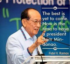 Former president Ramos supports Duterte.