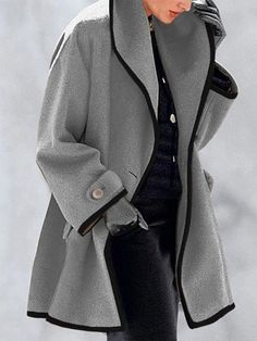 style inspiration,women fashion,style fashion,fashion ideas,plus size fashion,fashion Casual Coats For Women, Faux Fur Hooded Coat, Leopard Print Coat, Long Winter Coats, Thing 1, Outerwear Jackets, Types Of Sleeves, Blazer, Long Sleeve