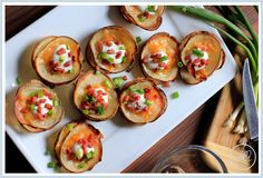 Stacked and Loaded Potato Thins