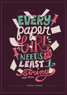 Paper Towns Quotes |Lettering Posters
