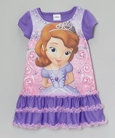 Take a look at this Purple Sofia the First Ruffle Nightgown - Toddler by Disney on #zulily today!