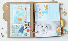 Mini album made with the #epiphanycrafts Shape Studio Tool Star www.epiphanycrafts.com #scrapbook #minialbum #punkysprouts