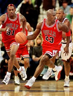 Michael Jordan Dennis Rodman Chicago Bulls Toronto Raptors Popeye Jones