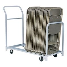 Folding u0026 Stacked Chair Cart  sc 1 st  Pinterest & Folding Chair Storage Cart Truck Raymond Products Compact Size 2 ...