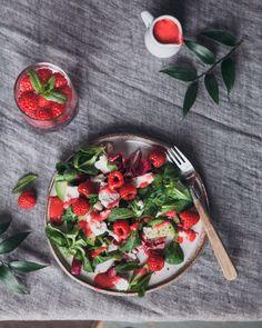 vuohenjuustosalaatti Bruchetta, Green Bowl, Kale, Food Ideas, Salads, Clean Eating, November, Gluten Free, Healthy Recipes