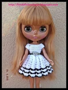 Ropa para Blythe: vestido de Fordollsboutique en Etsy