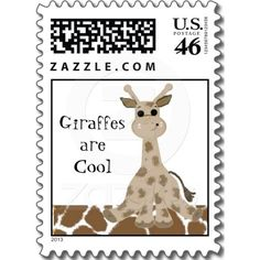 Giraffes are Cool Postage Stamp