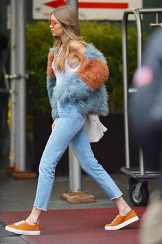 Chic Mix fur casual street style Los Angeles New York