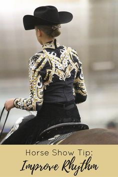 Horse show tip from AQHA Pro Horseman Richard Shrake on how to improve rhythm while riding: Trot around the arena for two or three minutes, posting five strides, sitting five, posting sitting 10 and then repeat the exercise. Horse Training, Training Tips, Horse Showing, Horse Show Clothes, American Quarter Horse, Western Pleasure, Horse Girl, Western Outfits, Horse Stuff