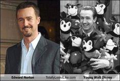 Edward Norton Totally Looks Like Young Walt Disney