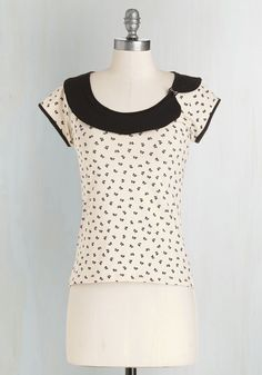 Crafty Go Lucky Top. There's something about this cream-colored top that gives you the crafting itch! #cream #modcloth