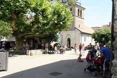 yvoire savoie meer geneve frankrijk dorp plein Yvoire, Street View, Alps