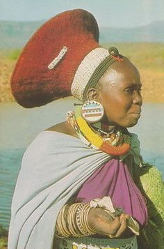 Africa |  Portrait of a Zulu Woman.  South Africa | Photographer ?