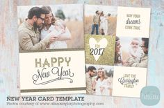 AL002 New Year Card by Paper Lark  on @creativemarket