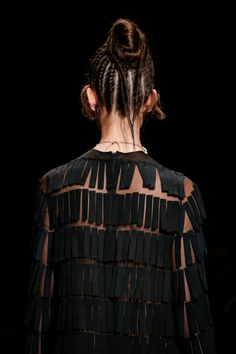 Unusual fringe detail. Valentino Spring 2016 Ready-to-Wear Collection Photos - Vogue
