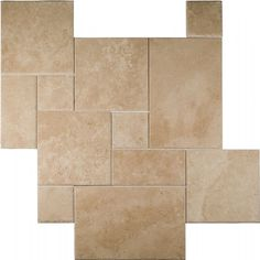 "Available to order directly from BV Tile & Stone. Contact us today (714) 772-7020. Retail and Wholesale. Travertine 4sz. Pattern Sets Cappuccino Light 8""x8"" - 8""x16"" - 16""x16"" - 16""x24"""
