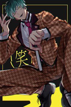 Twitter Anime Boys, Cute Anime Guys, Manga Art, Anime Art, Tragic Comedy, Boy Illustration, Handsome Anime Guys, Creepy Clown, Fanarts Anime