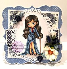 OOAK Art by Miran Glamorous Georgina by Craftyshackcards on Etsy