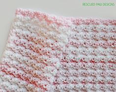 Crochet Baby Blanket Pattern featuring the Blanket Stitch :: Rescued Paw Designs Tutorial