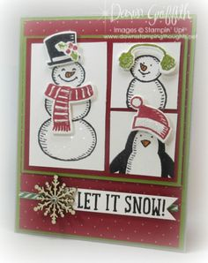Let it SNOW (Dawns stamping thoughts Stampin'Up! Demonstrator Stamping Videos Stamp Workshop Classes Scissor Charms Paper Crafts)