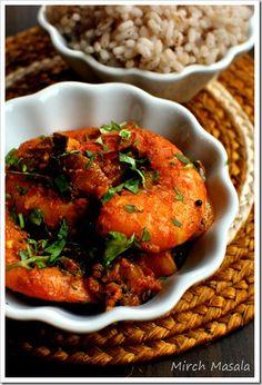 Nadan Prawns Roast ~ Kerala Style Shrimp Roast / Mirch Masala