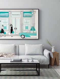 Audrey at Tiffany's  - Illustration - Framed Limited Edition Print