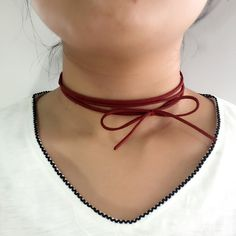 Leather Bowknot Rope