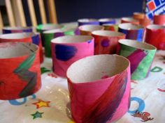 I love how colourful these cardboard rolls are. They became a junk model snake - wonder what else they could be? Cardboard Tube Crafts, Cardboard Rolls, Green Crafts For Kids, Crafts To Do, Kids Crafts, Upcycled Crafts, Recycled Art, Recycled Materials, Diy Projects To Try