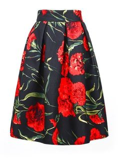 rose Floral Printed trendy Midi Skirts #ClothingOnline #PlusSizeWomensClothing #CheapClothing #FashionClothing #womenswear #sexydress #womensdress #womenfashioncasual #womensfashionforwork #fashion #womensfashionwinter